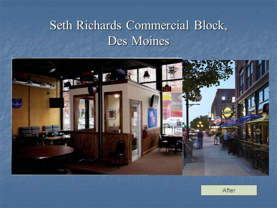 Seth Richards Commercial Block, Des Moines After