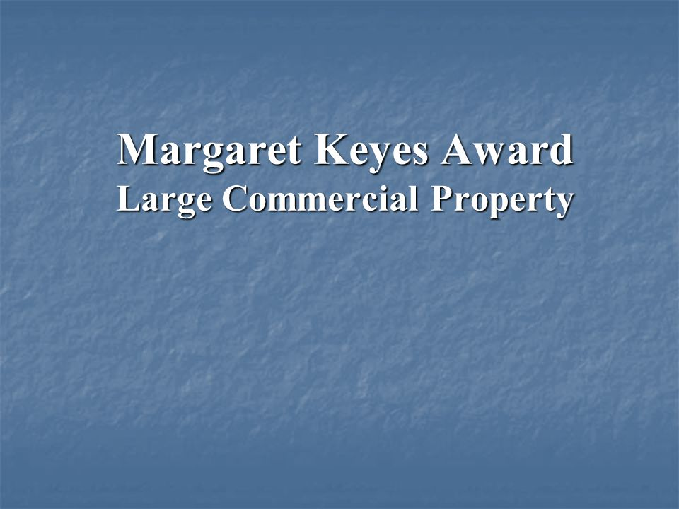 Margaret Keyes Award Large Commercial Property