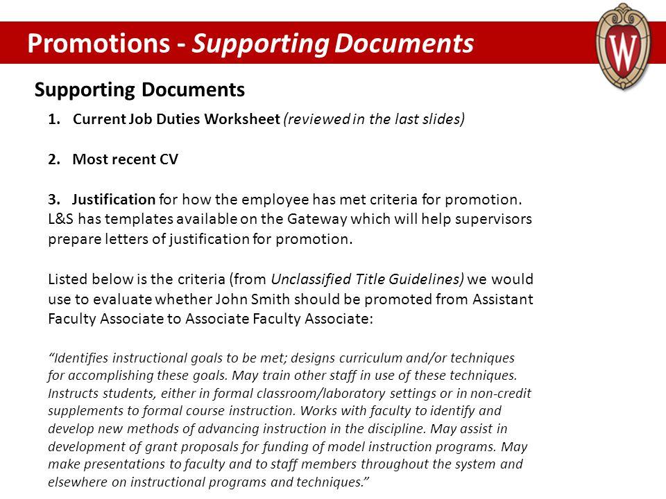 1.Current Job Duties Worksheet (reviewed in the last slides) 2.