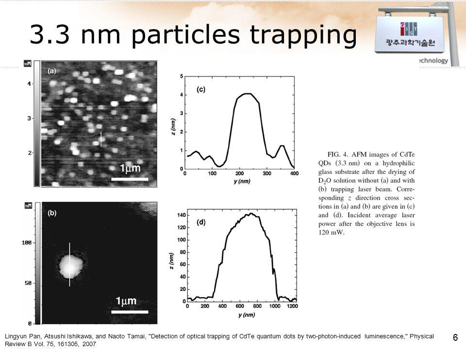 나노 시뮬레이션 연구실 Nanoscale Simulations Laboratory 나노 시뮬레이션 연구실 Nanoscale Simulations Laboratory Nanoscale Simulations Lab Department of Mechatronics Calibration factor  Laser scanning analysis 커버글래스에 고정 (stuck) 된 마이크로 비드 이용 비드에 조사하는 레이저의 위치를 변화 QPD 에 측정되는 신호를 수집  스캐닝을 이용한 QPD 시그널의 변화 측정 (Calibration factor) 수집된 신호 (S x, S y, S z ) 에 기울기 (Calibration factor) 값을 대입하여 실제 비드의 이동거리 계산 [27]