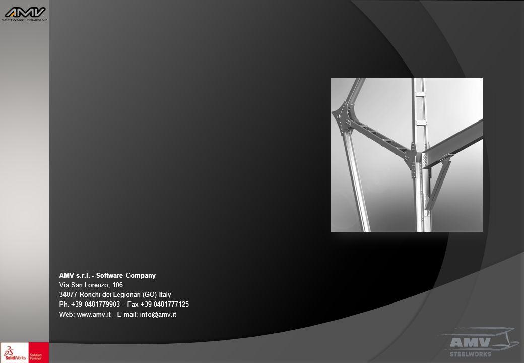 AMV s.r.l. - Software Company Via San Lorenzo, 106 34077 Ronchi dei Legionari (GO) Italy Ph. +39 0481779903 - Fax +39 0481777125 Web: www.amv.it - E-m