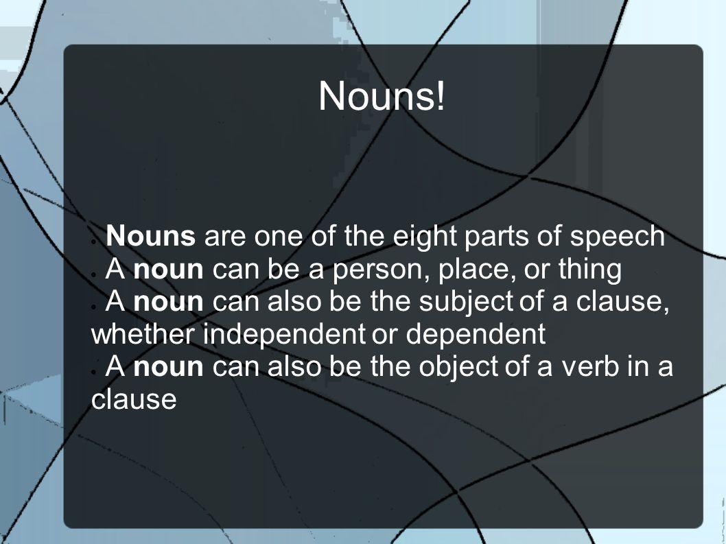 Nouns.