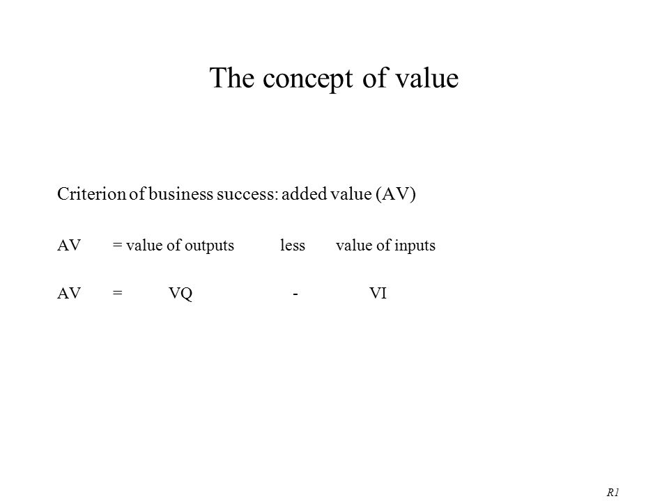 What is value .Suppliers: seek to sell a good when the price exceeds the costs of its inputs.