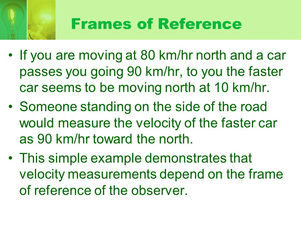 Frames of Reference Consider a stunt dummy dropped from a plane.