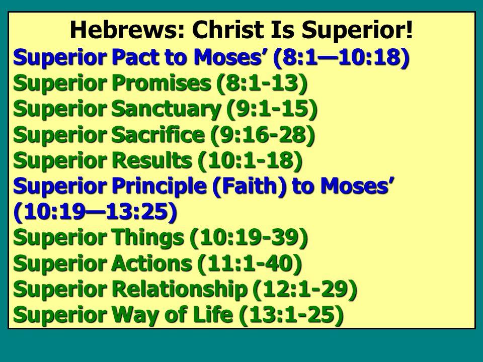 Hebrews: Christ Is Superior.