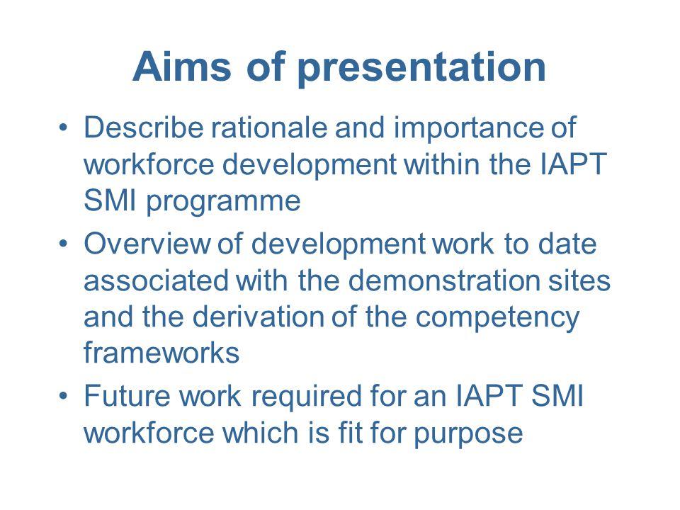 SMI IAPT E&T Implementation strategy