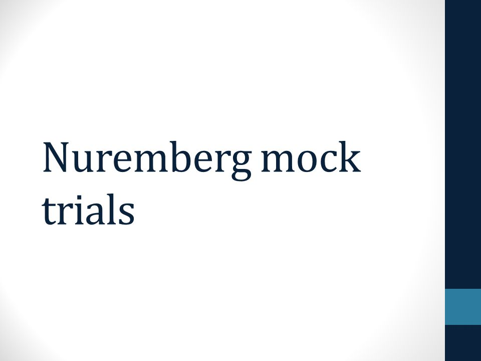 Nuremberg mock trials
