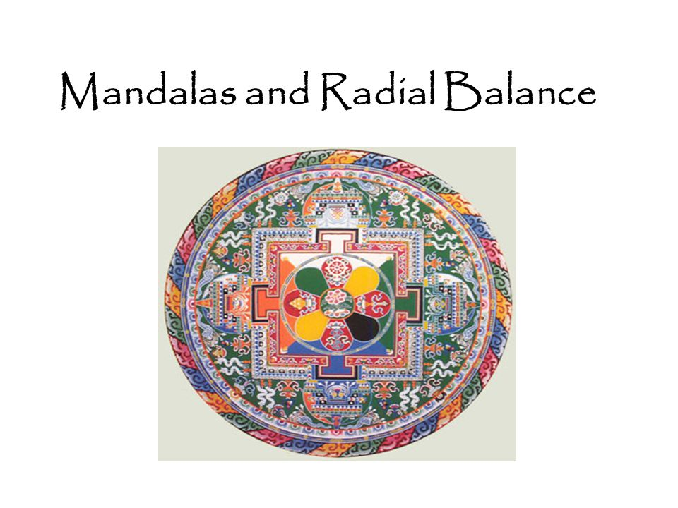 Mandalas and Radial Balance