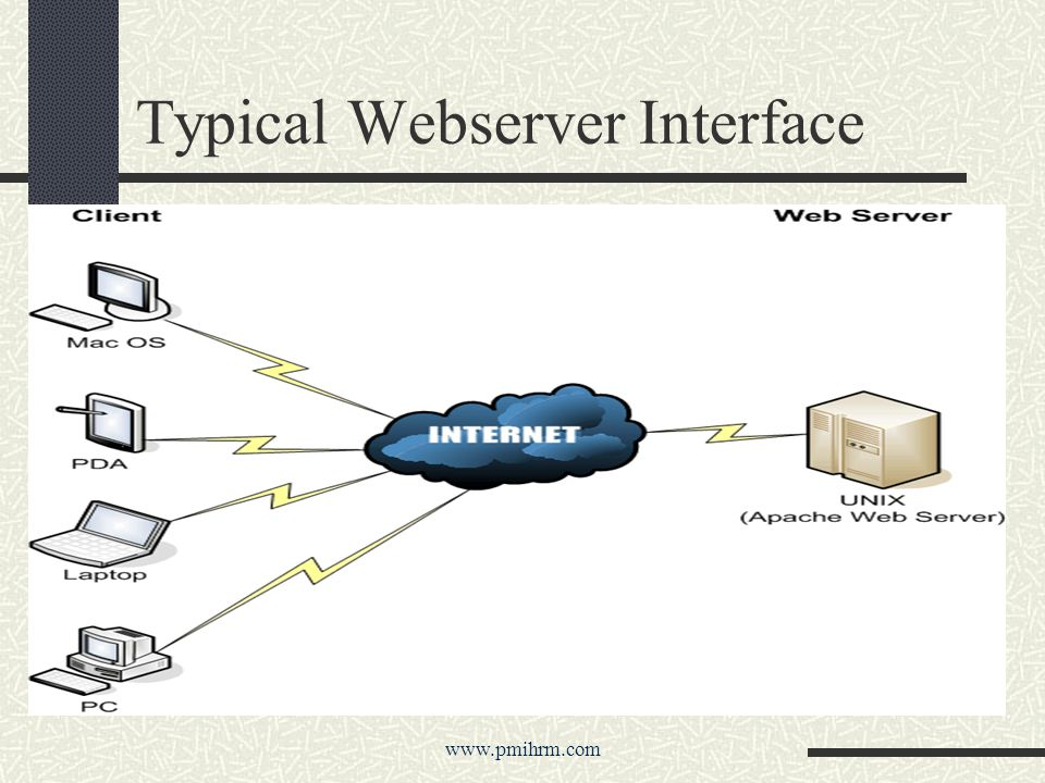 Typical Webserver Interface www.pmihrm.com