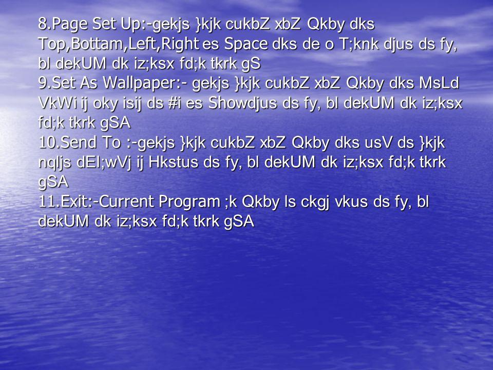 **** File Menu**** 1.New:- M.S.