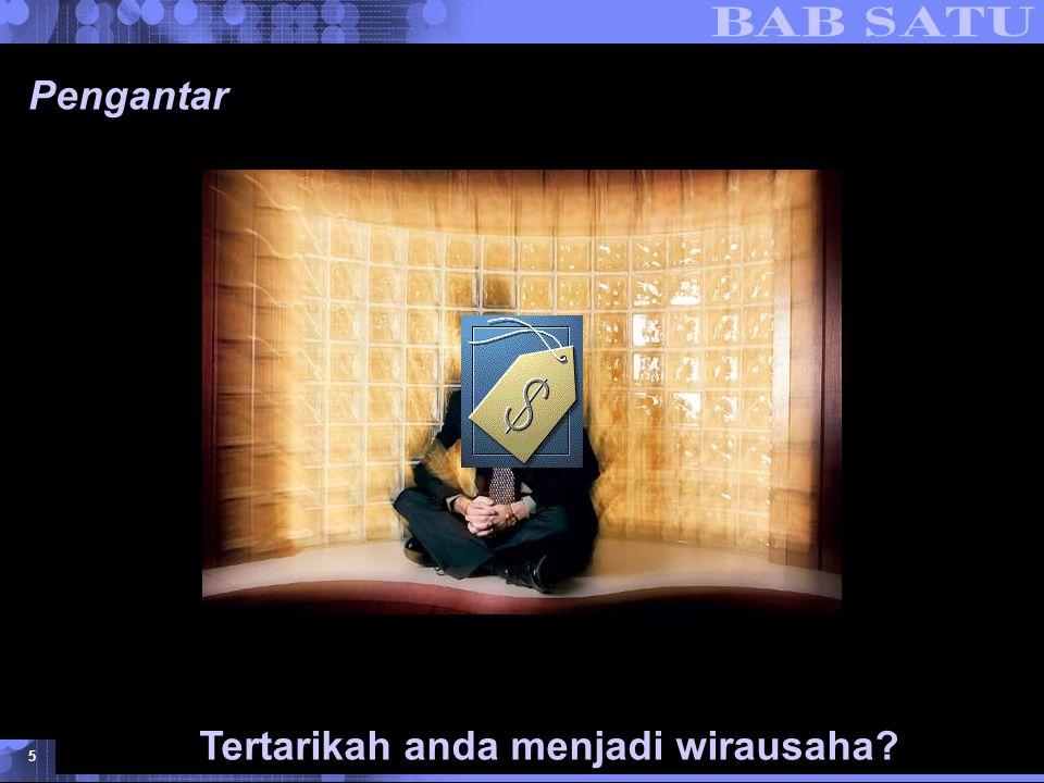 Konsepsi Dasar Kewirausahaan © 2007 UMB 5 Pengantar Tertarikah anda menjadi wirausaha?