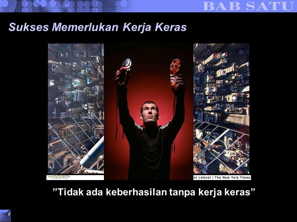 """Konsepsi Dasar Kewirausahaan © 2007 UMB 7 Sukses Memerlukan Kerja Keras """"Tidak ada keberhasilan tanpa kerja keras"""""""