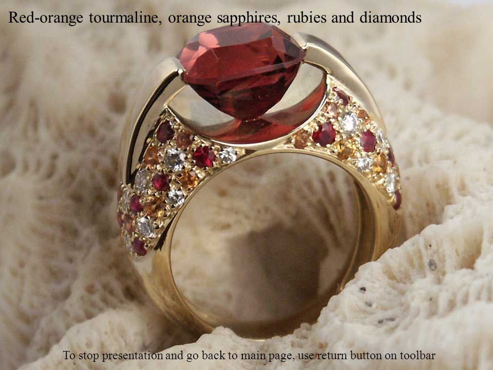 Pink tourmaline and diamonds To stop presentation and go back to main page, use return button on toolbar