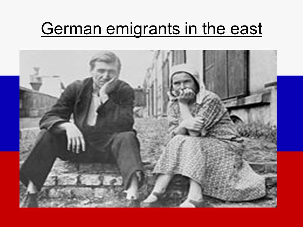 German emigrants in the east