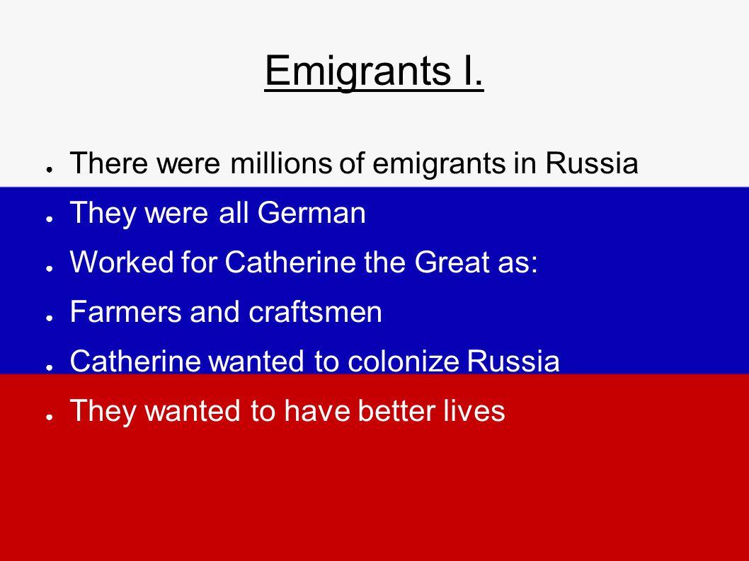 Emigrants I.
