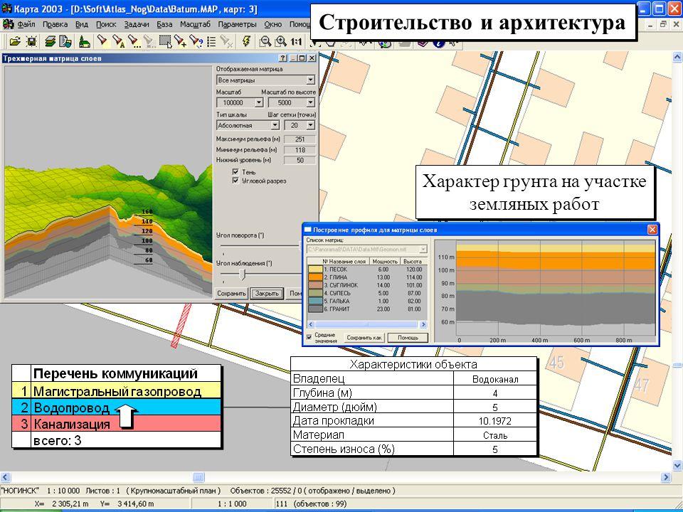 Строительство и архитектура Характер грунта на участке земляных работ Характер грунта на участке земляных работ