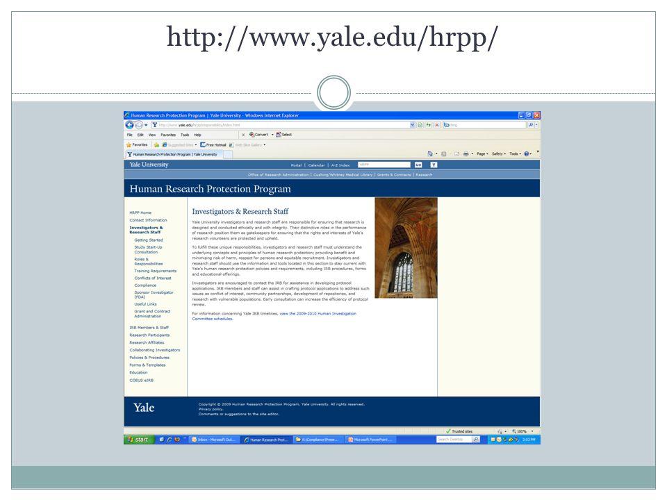 http://www.yale.edu/hrpp/