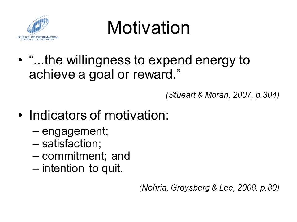 Motivation Ways to improve employee motivation: –Reinforce performance, especially with regard to reward system.