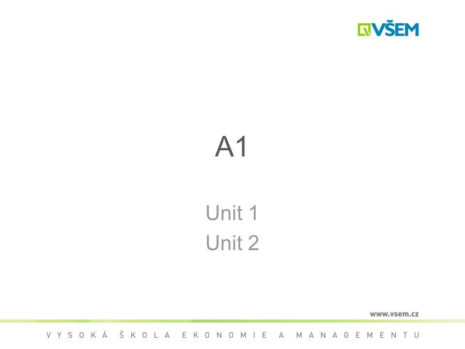 A1 Unit 1 Unit 2