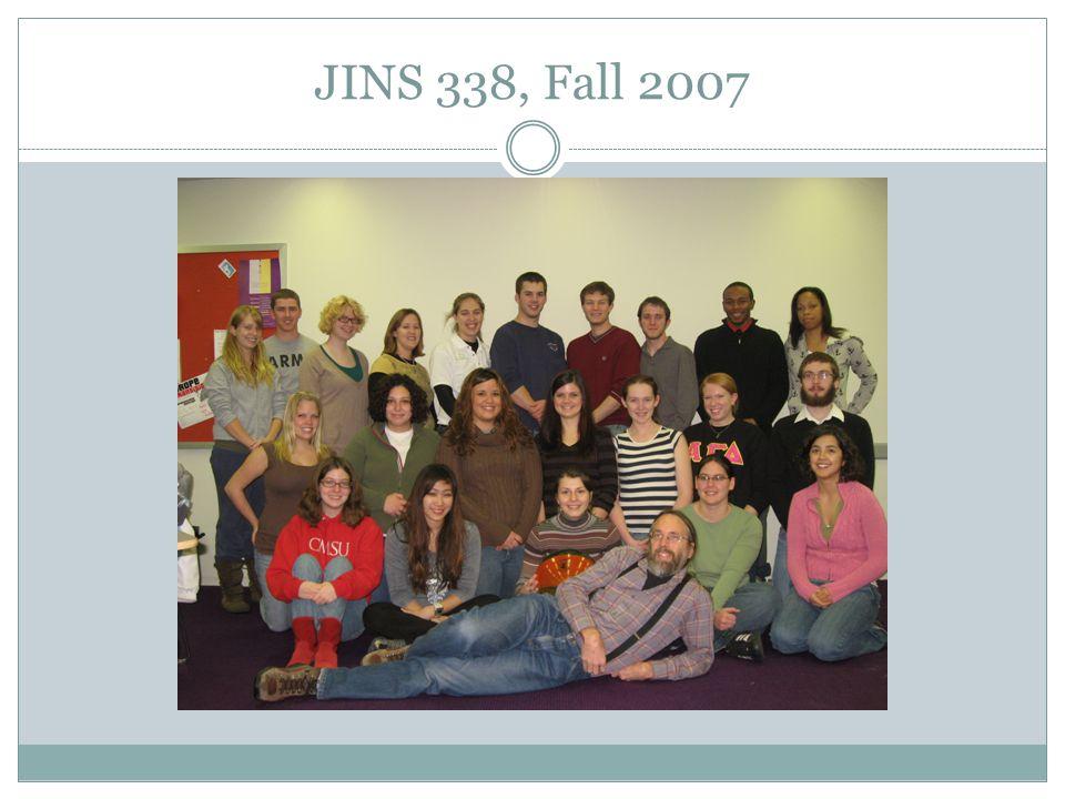 JINS 338, Fall 2007