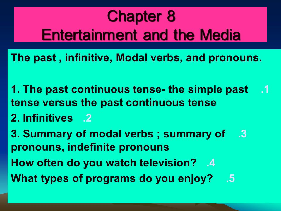 Part 1/ The past continuous tense; the simple past tense versus the past continuous /p 224 ' Good evening and welcome to the Channel 12 six o'clock news.