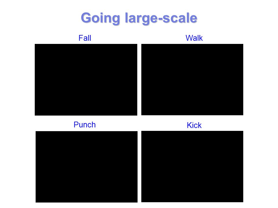 Going large-scale Punch Kick FallWalk