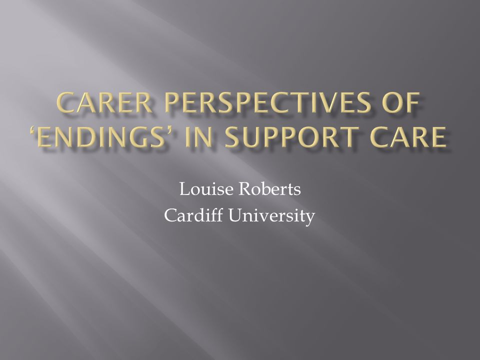 Louise Roberts Cardiff University