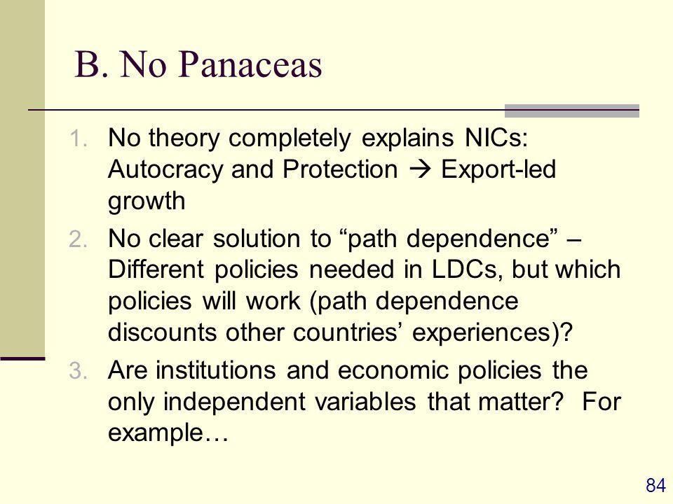 84 B. No Panaceas 1.