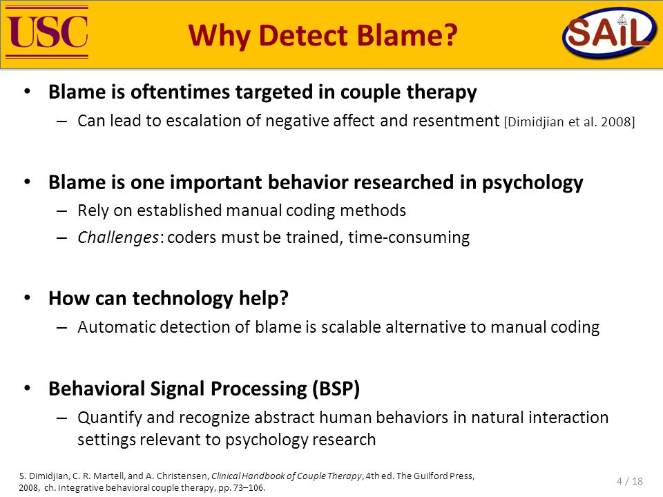 Why Detect Blame.
