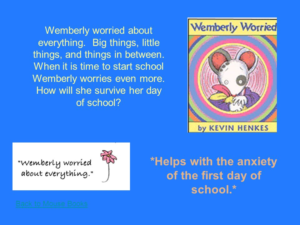 Back to Mouse Books Wendell is spending the weekend at Sophie's house and he must make up all the rules.