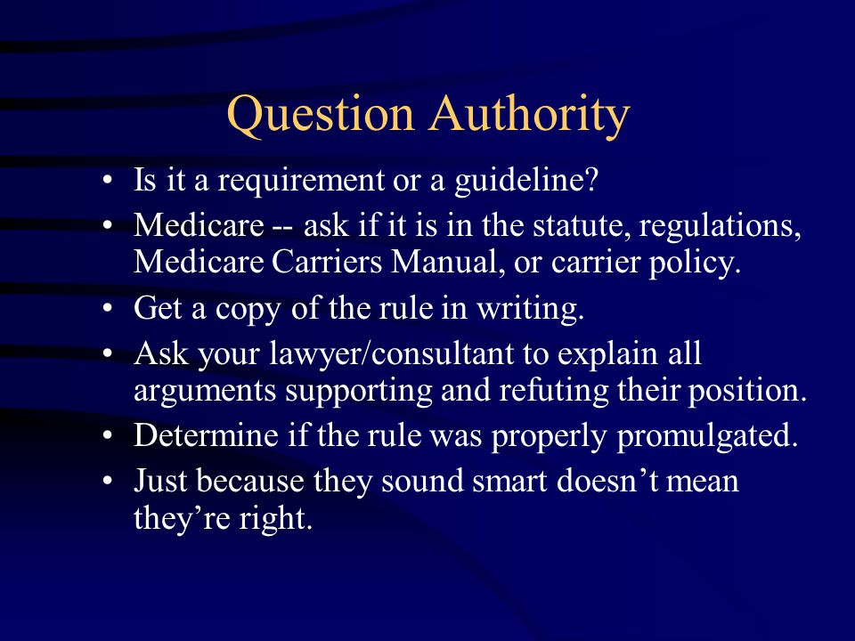 Role of Documentation: Guidance from HCFA Documentation Guidelines for Evaluation and Management Services Questions and Answers These questions and answers have been jointly developed by the Health Care Financing Administration (HCFA) and the American Medical Association (AMA) March 1995.