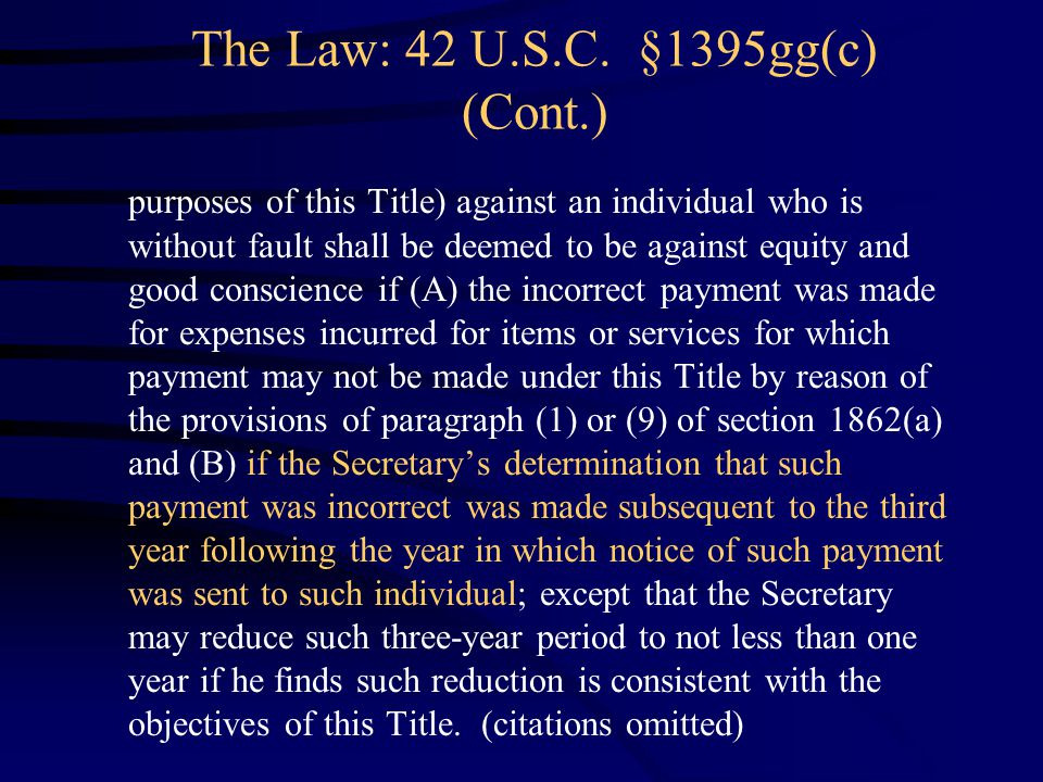 The Law: 42 U.S.C.