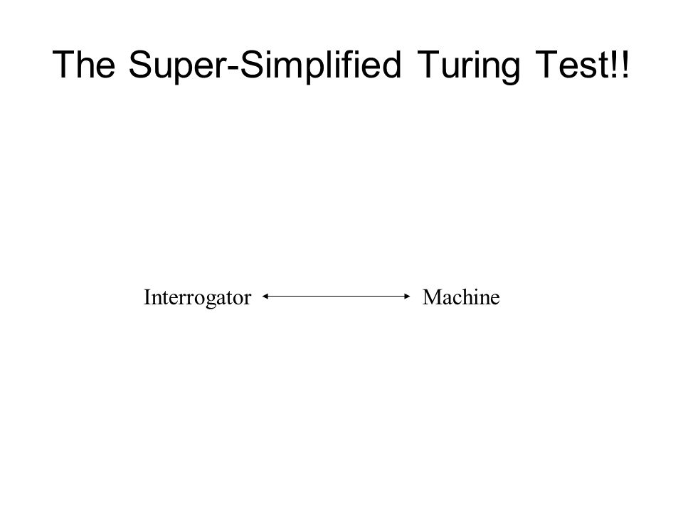 The Super-Simplified Turing Test!! InterrogatorMachine