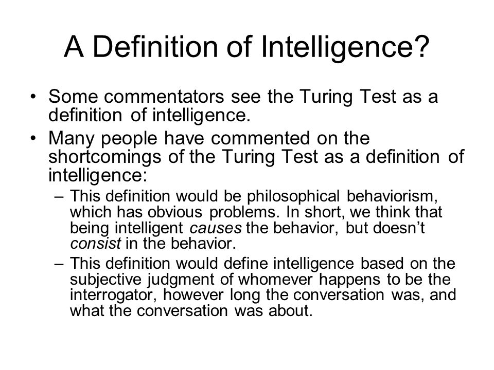 A Definition of Intelligence.