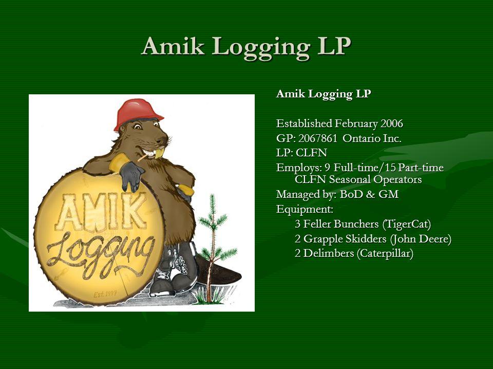 Amik Logging LP Established February 2006 GP: 2067861 Ontario Inc.