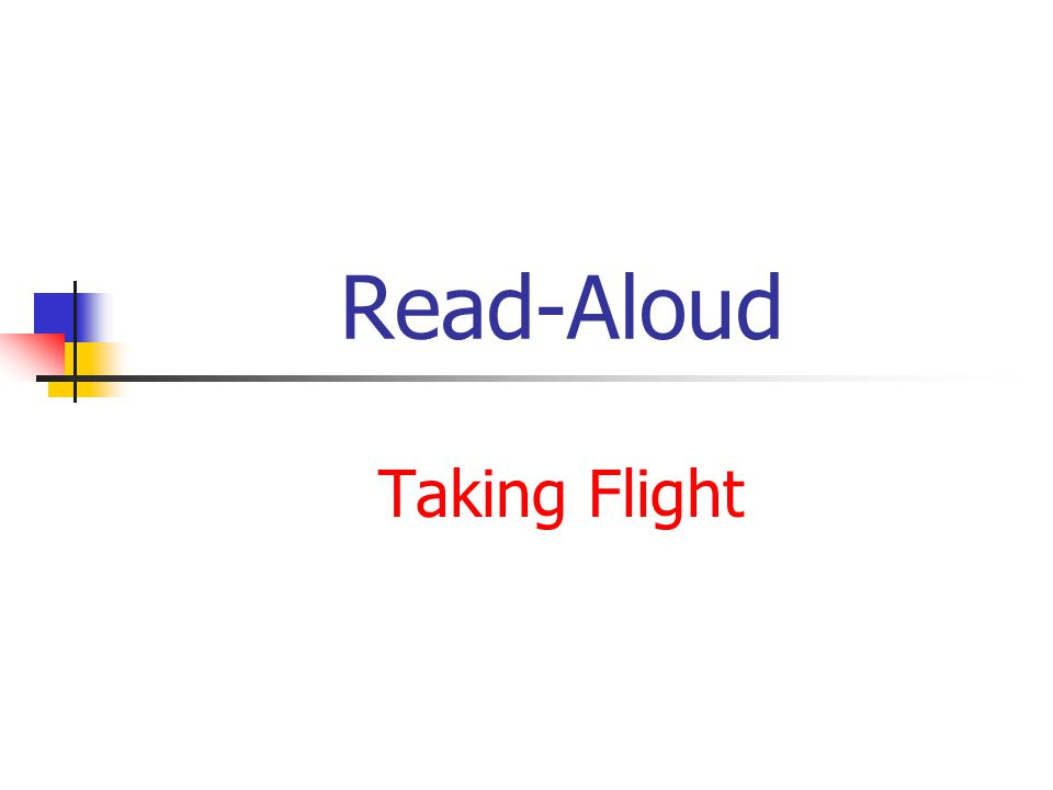 Read-Aloud Taking Flight