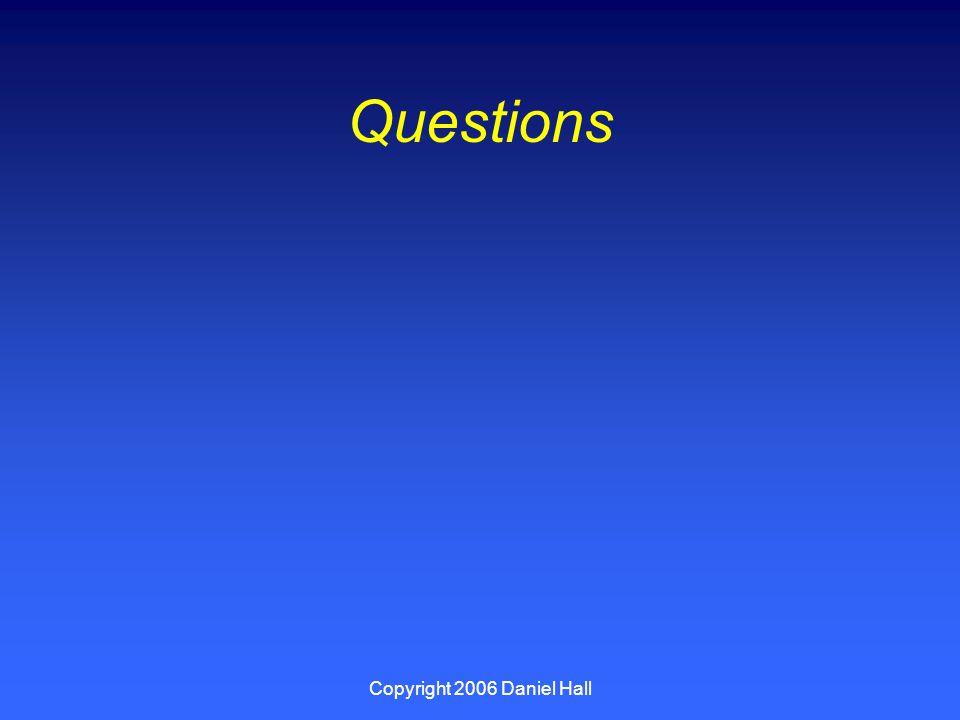 Copyright 2006 Daniel Hall Questions