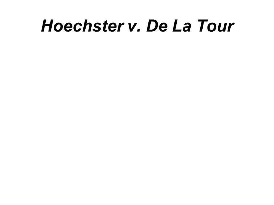 Hoechster v. De La Tour