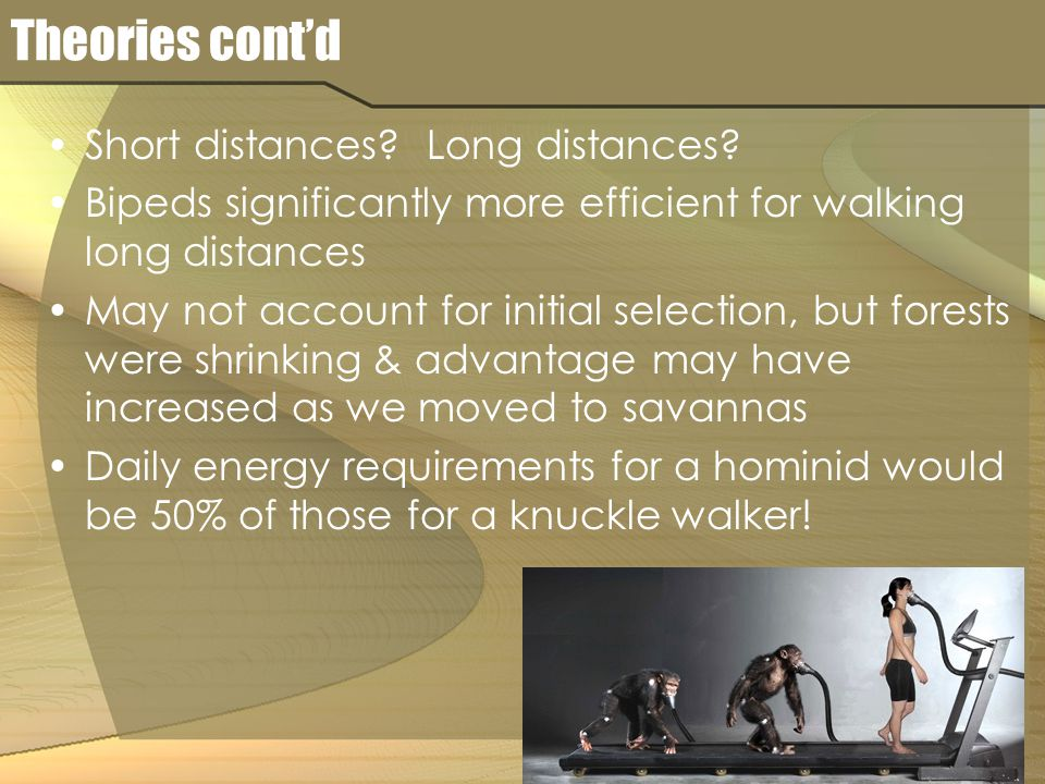 Theories cont'd Short distances. Long distances.