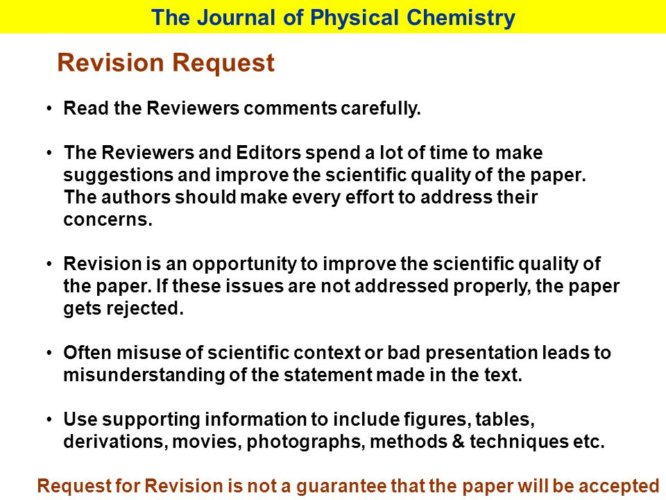 Revision Request Read the Reviewers comments carefully. The Reviewers and Editors spend a lot of time to make suggestions and improve the scientific q