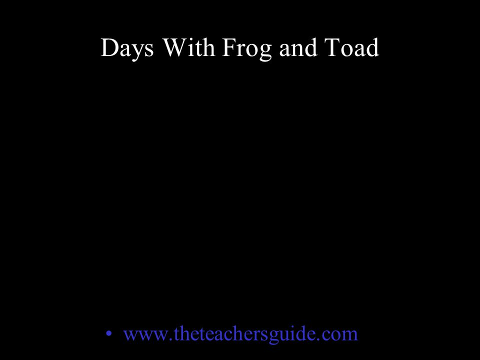 Who Wants To Be A Millionaire Days With Frog and Toad
