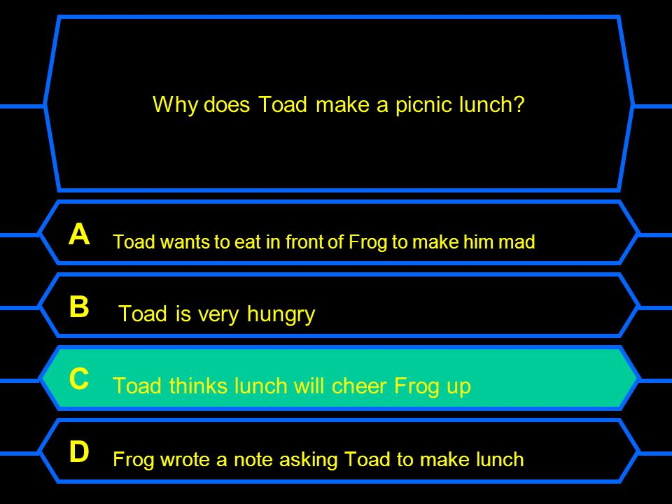 Why does Toad make a picnic lunch.