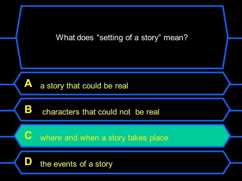 What does setting of a story mean.