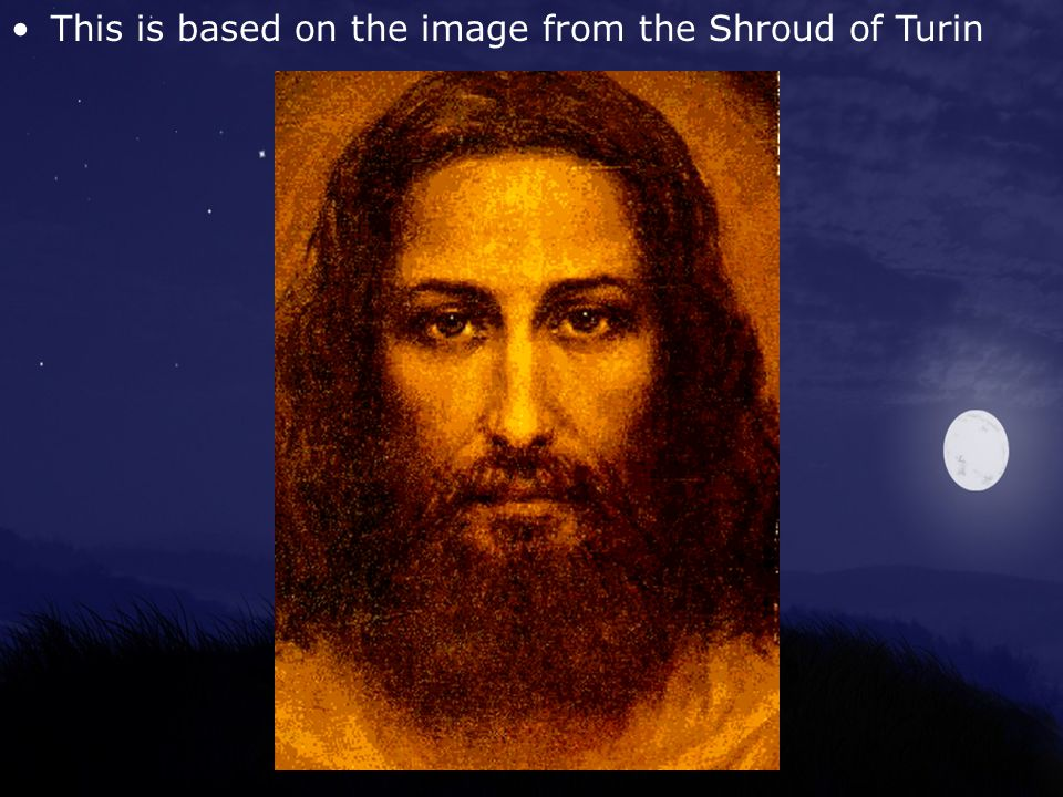 This is based on the image from the Shroud of Turin