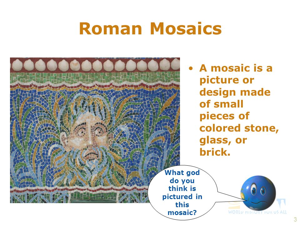 14 Roman Glassware The Romans were famous for making glass.