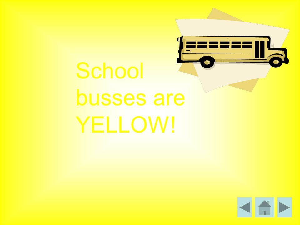 School busses are YELLOW!