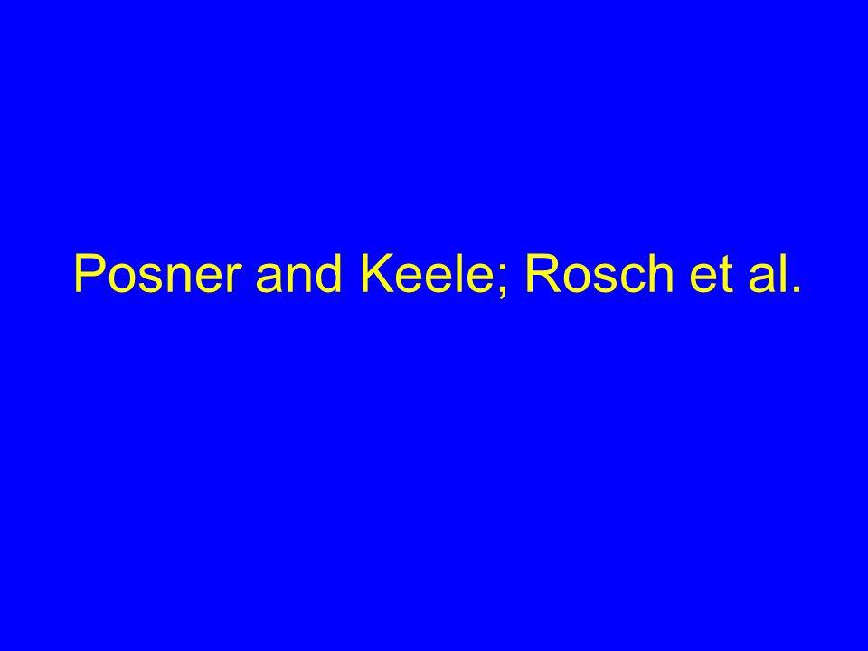 Posner and Keele; Rosch et al.