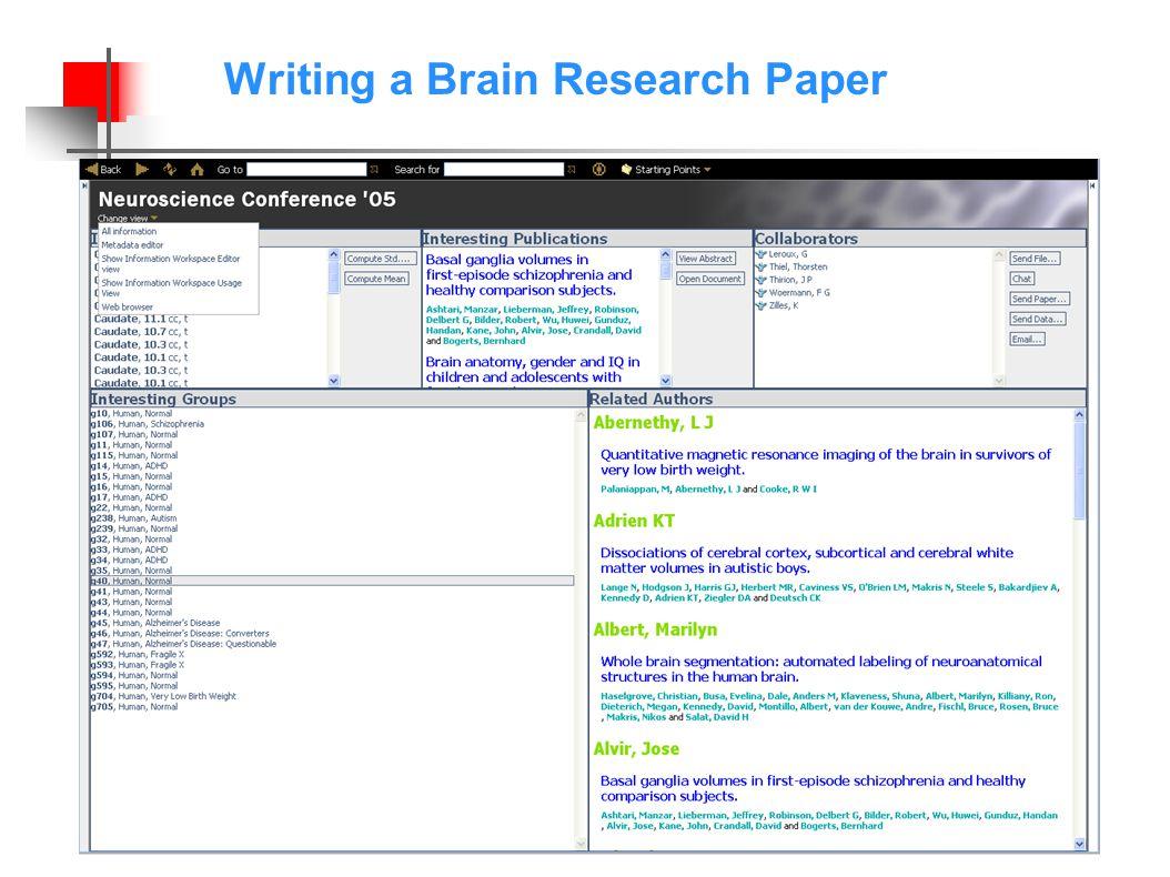 Writing a Brain Research Paper