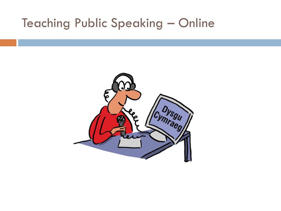 Teaching Public Speaking – Online