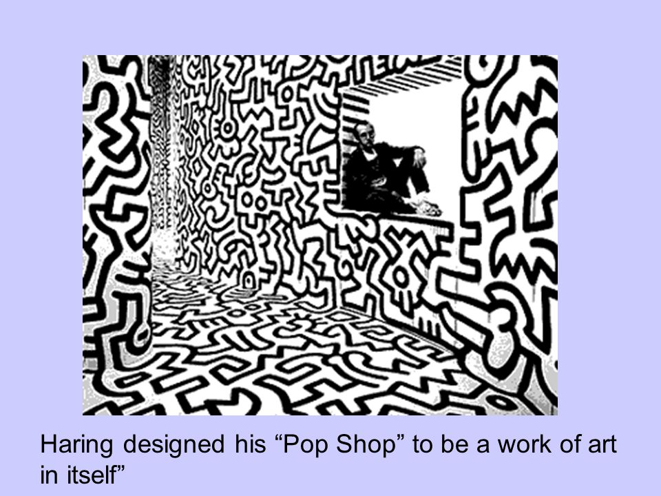 Haring designed his Pop Shop to be a work of art in itself